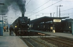 051 415  Lauda  09.11.74 (w. + h. brutzer) Tags: lauda 050 eisenbahn eisenbahnen train trains deutschland germany dampfloks steam railway lokomotive locomotive zug db webru dampflok analog nikon