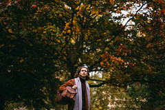 Not stopping, not today (FelixRS) Tags: nature natural autumn walk walking fall leaf leaves tree trees forest sun sunset dusk male man model modelling travel explore fashion scarf scarves warm branch branches