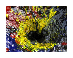 (ngel mateo) Tags: ngelmartnmateo ngelmateo colores tinta textura abstracto amarillo rojo azul negro pintura blue ink colors black texture abstract red paint
