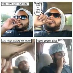 Smoke Break (stanbstanb) Tags: lomics comics dailylife life break lemme lookin nigga smoke
