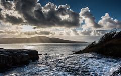 Infinity Falls (13 Monkeys) Tags: mull scotland sea hills water fall infinity clouds sun rays crepuscular sky