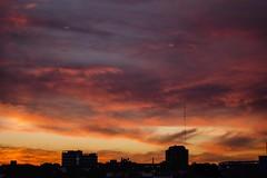 Fight fire with fire. (ramirofmunicoy) Tags: nubes atardecer sunshine sunset pm tumblr nikonuser nikon 18 f18 50mm formas abstracto colores naranja orange d5100 clouds cloud