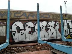 Cargos (Thomas_Chrome) Tags: graffiti streetart street art spray can moving freight train vr cargo target object illegal vandalism suomi finland europe nordic chrome