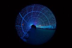 Blue (Rockallpub) Tags: light tunnel norwich blue christmas city fisheye sigma 45mmf28 canoneos7d
