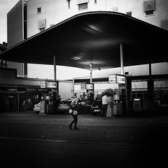 gas station (s_inagaki) Tags: gas station helsinki finland snap street blackandwhite bnw bw