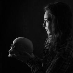 Eternity is an Hour (Buchannantess) Tags: eternity is an hour black ad white skull bones low key death mortality spirituality