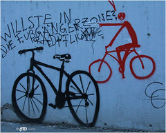 Crazy for the bikes (La_Marghe) Tags: yabbadabbadoo canon eos500d wall graffiti