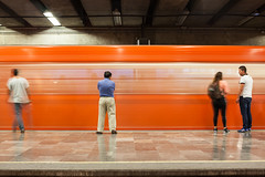 The Colourful Metro of Mexico City (Geraint Rowland Photography) Tags: metro mexicocity tube underground train movement blur longexposure people publictransportsystemmexicocity distritofederal travel canon geraintrowlandphotography