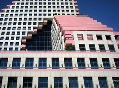 Tel Aviv (David K. Marti) Tags: city urban street building house facade sky windows cityscape telaviv middle east israel opera structure structural architecture architectural light shadow exterior day daylight sun sunlight color colored colour colorful outdoors outdoor outside red blue white black detail perspective