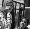 Like you, madam, I also have a difficulty to reassure my children that everything is ok, that everything will be ok (ybiberman) Tags: israel jerusalem oldcity alquds muslimquarter ramadan fridayprayer woman girl portrait hijab veil worry