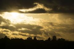 Golden Sunset (Paranoid Phantom) Tags: sunset gold silouette edinburgh skyline city