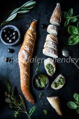 french bread and pesto (magshendey) Tags: bread food foodphoto foodstyling fresh rustic baking