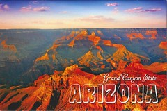 Countries - USA - Arizona - Grand Canyon - RR - NA World RR group 315 (a_garvey) Tags: postcards postcrossing usa arizona