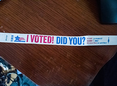 i voted in chicago and all i got was a lousy wristband (jima) Tags: chicago illinois 2016 wristband election