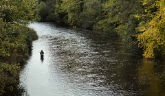 Fisherman in River Coquet at Felton (DS Williams) Tags: northumberland fisherman rivercoquet felton