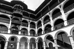 Rila Monastery (petia.balabanova(tnx for +2 million views)) Tags: bulgaria rila monastery travel architecture building details blackandwhite bw nikond800 2470mm monochrome geometric lines arch