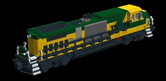 Chicago & Northwestern C44-9W Work-in-Progress (wildchicken_13) Tags: wildchicken13 lego train chicago northwestern c449w ge general electric diesel engine locomotive moc ldd wip freight