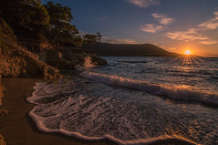 Sunset today (Vagelis Pikoulas) Tags: sun sunset sunburst sunshine waves wave wavy beach rock rocks landscape sea seascape porto germeno greece autumn november 2016 sky blue europe canon 6d tokina 1628mm view