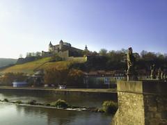 Fortress Marienberg in Wrzburg (jgokoepke) Tags: fortress wrzburg germany rivermain architecture autumn iphone4s