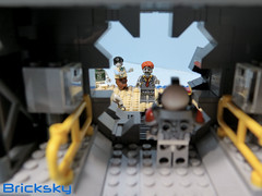 Securing the Vault from Zombie Infestation (Bricksky) Tags: lego moc bricksky zombie island vault fig