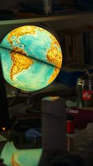 time to tidy my desk (grahamrobb888) Tags: nikon nikond800 nikkor85mmf18 nikkor perthshire autumn homegarden birnamwood birnam bokeh globe glow