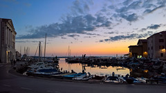 Early evening at Piran (davee10101) Tags: 2016 boats harbour piran slovenia sunset si
