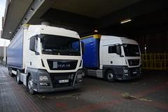 2x MAN TGX 18.440 met kentekens ROW RO 199 en ROW RO 198 in Kln Messe 18-11-2016 (marcelwijers) Tags: 2x man tgx 18440 met kentekens row ro 199 en 198 kln messe 18112016 truck trucks lkw vrachtwagen vrachtauto