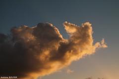 Couleur du soir (antoinebouyer) Tags: orange soir ciel nuage temps mto sky cloud