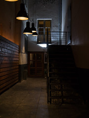 Hidden Path (H.H. Mahal Alysheba) Tags: mnchen munich night street snapshot germany building stairways lumix gx7 lumixg 1260mmf3556