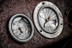 Out of oil (dave.fergy) Tags: newzealand abstract mechanical rusty nz wellington symbols electrical appliances capepalliser on1pics