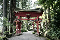 On this day in 2011 (Jean I Cresol) Tags: road trip red summer japan temple japanese gate asia sightseeing culture august iwate tori 20th hiraizumi iwateken torigate 2011 iwateprefecture