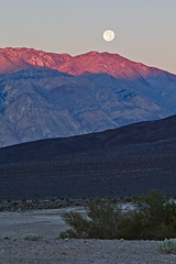 Saline Valley Morning Moon (matthewkaz) Tags: california sky moon mountains sunrise desert deathvalley salinevalley moonset 2014 inyomountains