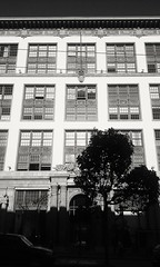 1000 Van Ness Avenue (sftrajan) Tags: 1000vannessavenue vannessavenue sanfrancisco architecture autodealership california bw blackwhite blackandwhite cadillac 2015 lgtribute weeksday donleecadillacbuilding nationalregisterofhistoricplaces