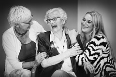 3 Generations (siebe ) Tags: family portrait people blackandwhite woman 3 holland netherlands monochrome dutch generations portret groupshot vrouwen 2015 generaties siebebaardafotografie wwweenfotograafgezochtnl