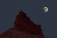 Palo Duro Moon (chasblount) Tags: autumn sky usa moon color fall nature rock night rural canon dark landscape photography photo texas unitedstates photos outdoor dusk silverton scenic canyon moonlight claude panhandle lakemckenzie palodurocanyon canoneos50d supermoon