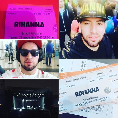 Pucha que se pasó bien ..... #rihannaenchile #rihannaconcert #metrodesantiago #concerttime #lifeistooshort