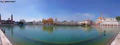 panoramic view of golden temple (akshaypatil™ ® photography) Tags: panorama building architecture religious temple golden view outdoor sony places goldplated amritsar goldentemple religiousplaces z3c xperia sonyxperia z3compact