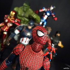 """""""Finally, I make it to join the team"""" #avengers #marvel #spiderman #antman #ironman #ironpatriot #hulk #captainamerica #starlord #mafex (wInGz14) Tags: square squareformat mayfair iphoneography instagramapp uploaded:by=instagram"""