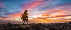 wonderful light (CinemaScope Version) (Ateens Chen) Tags: longexposure sunset sea portrait sky people cloud lightpainting colour nature hongkong nikon outdoor ateens eveningglow tiltshiftphotography d810 pcenikkor24mmf35ded