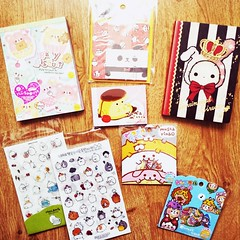 STATIONERY THINGS (Celenia) Tags: kawaii stationery crux qlia memopad mindwave stickersack molang sentimentalcircus