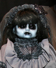 Horror Demon Doll (shaire productions) Tags: girls halloween monster toy death scary doll image artistic vampire zombie picture eerie spooky photograph convention dreams horror demon undead nightmare creature gruesome gory plaything sinistercreaturecon