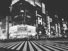 strangers in strange city (linhchi_) Tags: street city people white black beautiful japan night japanese lights tokyo shinjuku crowd busy citylights citynight nhtbn p nht
