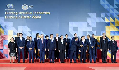 Foto oficial de la 23 Cumbre APEC con participación del presidente Ollanta Humala en Filipinas