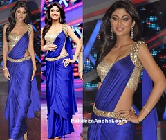 Shilpa Shetty in Stylish Blue Crepe Silk Saree Gown with One Shoulder Blouse (shaf_prince) Tags: waist shilpashetty bollywoodactress celebritydresses sareeblousedesigns blousebackneckdesigns blousepatterns blousebackdesigns bollywooddesignerdresses oneshoulderblouse goldkamarband sequinblouses blousemodels blouseneckdesigns ladiesfashionblouses stylishdesignsforblouse actressinbluedresses gownstylesaree sareegown