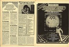 Muziek Expres ME Krant Saturday Night Fever ad (Nobo Sprits) Tags: me night magazine disco ad saturday pop bee gees muziek 1978 horoscope fever travolta runaways advertentie krant horoscoop expres