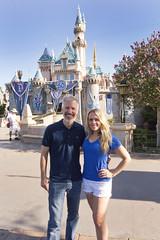 Sam and Jenn at Sleeping Beauty Castle (Sam Howzit) Tags: california jenn sleepingbeautycastle disneylandresort disneylandpark samhowzit disneyland60th disneylanddiamondcelebration