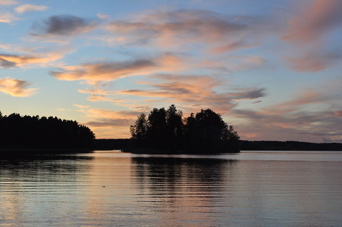 Sunset at Lake Vuoksa