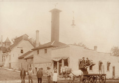 Epstein's Brewery with Wagon & Workers