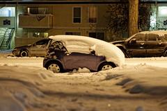 Scion iQ (BenWestPhotography) Tags: winter snow car night canon colorado denver co dxo scion 50mmf18 40d canon40d scioniq opticspro10