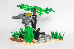 Halo: Gauss Turret (davide.gobbo) Tags: brick space halo turret spartan rocketlauncher moc gauss afol halolego